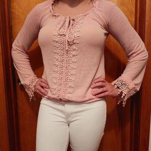 Light pink long sleeved shirt